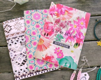 NOTEBOOK // #notebook #stationery #office #ethnic #summer #geometric #pattern #purple #blue #tribal #handmade #design #libreta #abstract