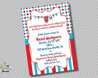 Dr. Seuss Baby Shower invitations