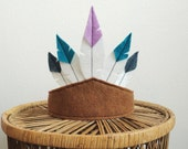Children's Felt Five Feather Headdress, Headband