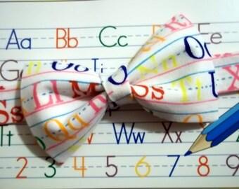 Alphabet Bow Tie-ABC Bow Tie-School Pictures Bow Tie-kid's Bow Tie-First Day of School Bow Tie