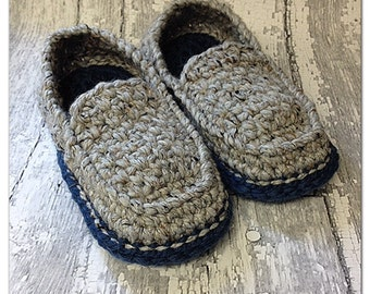 MADE TO ORDER, Crochet Men's Loafers, Adult sizing only, soft, warm slippers