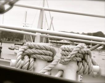 Nautical photo/Boat rope photo/ Boat photo