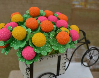 20 Polka Green Cake Ball or Cake Pop - Candy Chocolate Truffle Wrapper Paper