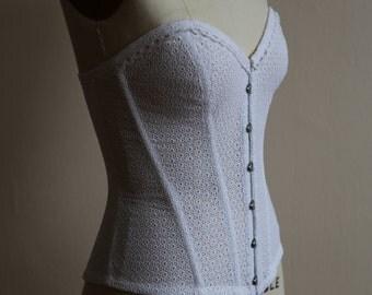 Eyelet cotton corset