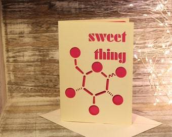 Papercut Glucose Greetings Card