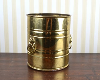 Vintage English Brass Canister