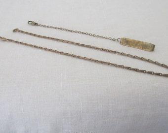 2 Brass Tone Watch Chains
