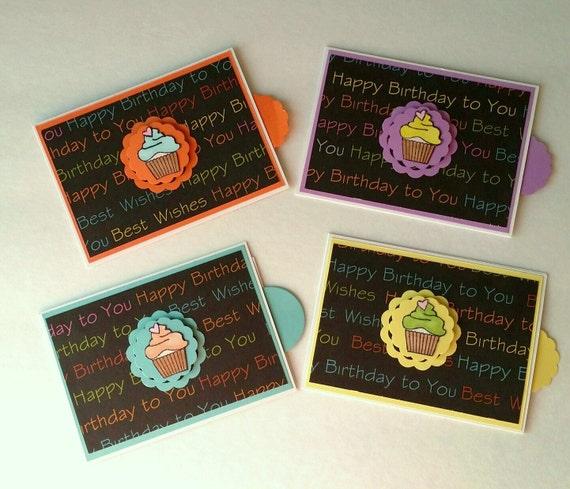 Birthday Gift Card Holders Set Of 4/Happy Birthday Gift Card