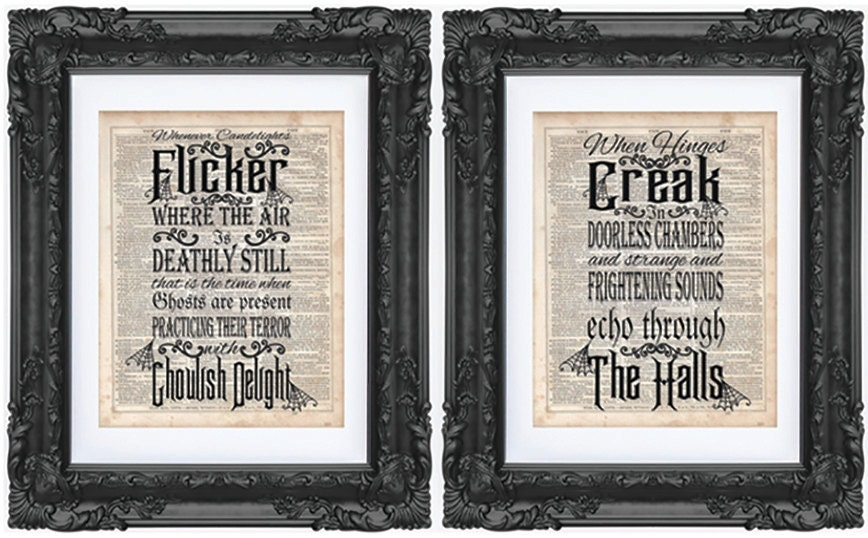 Haunting Quotes: Haunted Mansion Quote Dictionary Art Print Dictionary Art