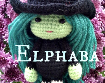 Wicked the musical Elphaba Wicked witch - Wizard of Oz crochet Doll