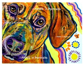 """PAWS'nPortraits - """"Molly""""~ Dog painting 11"""" x 14"""", Not Framed - Signed Original portrait - FREE Shipping"""