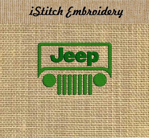 Jeep embroidery design in sizes by istitchembroidery
