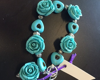 Turquoise and heart set.