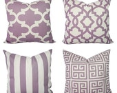 Soft Purple and Beige Pillow Cover - One Throw Pillow Cover - Purple Decorative Pillow Covers - Purple Couch Pillow - Lavender Pillow Cover