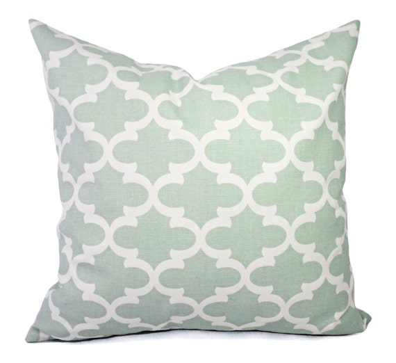 Soft Down Throw Pillows : Two Soft Green Decorative Pillow Covers Two Green Throw