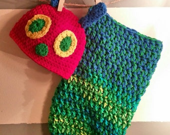 Hungry Caterpillar Hat and Cocoon Set