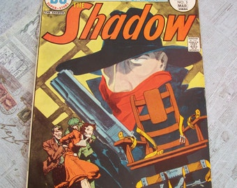 """Vintage DC Comic's edition of """"The Shadow"""" No. 3 Mar 30684. Published 1974."""