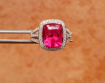 Fashion Ruby Jewelry Ring, Synthetic Ruby S925 Ring, Women Ring For Wedding, Ring For Women size 7