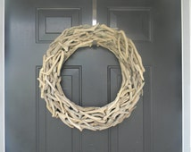 Large Driftwood Wreath, Plain Driftwood Wreath, Coastal Wreath, DIY Coastal Wreath, Driftwood Decor, Beach Wreath