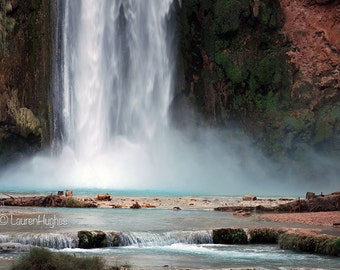Mooney Falls.  Havasupai. Nature Photography on Canvas