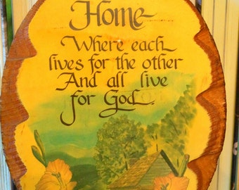 Wooden Plaque - Home