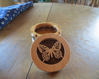 Layered Butterfly Trinket Box