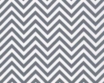 REMIX by Ann Kelle GREY CHEVRON fabric Robert Kaufman - Gray Modern Fabic Zig Zag