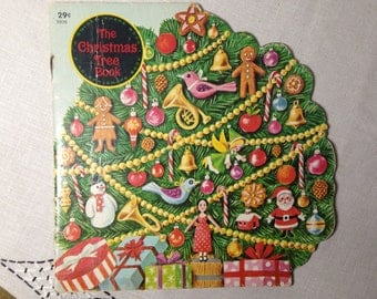 60s The Christmas Tree Book A Golden Shape Book 1966 Childrens