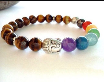 Chakra buddah bracelet
