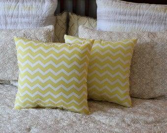 Yellow Chevron Pillows/Home Decor Chevron Pillows