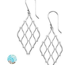 Hive Sterling Silver Earrings