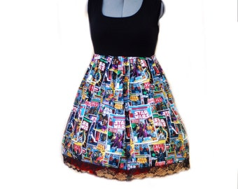Star wars comic book fangirl dress with sleeves