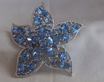 Sarah Coventry Star Fire Pin 6720    Vintage, Blue, Silvery