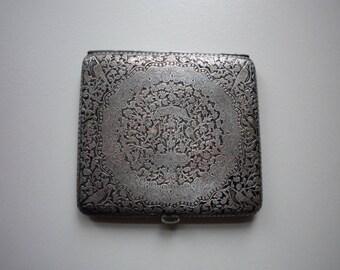 Antique Victorian Sterling Silver Ornate Hand Engraved Money Card Cigarette Case