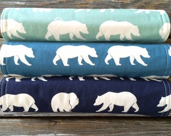 ORGANIC Burp Cloths ~ Nature//Bear//Tribal//Natural//Woodland