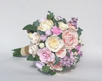 Vintage wedding bouquet. Made to order.