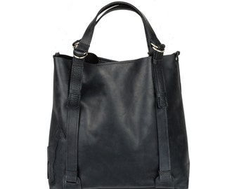 Big black bag leather