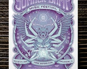 "Summer Camp Music Festival 2015 V.I.P.     18"" x 24"" Festival Screen Print"