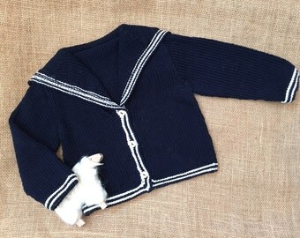 Little Sailor Girl Cotton Cardie