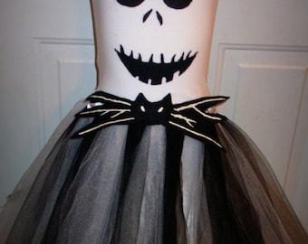 Jack Skellington inspired halloween tutu costume.