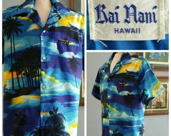 Mens vintage 1970s Rai Nani Hawaiian shirt.