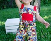 Boy Romper/ Jumper- Marvel -  Size 6-12 months to size 8