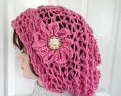 CROCHET PATTERN - Hat Pattern - Slouchy hat -Quick Easy Lightweight Summer Hat-Rasta Hat - Open weave hat, easy beginner -# 817