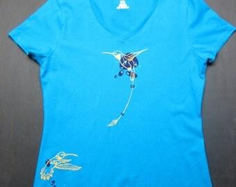 Women's V-Neck Hummingbird T-Shirt