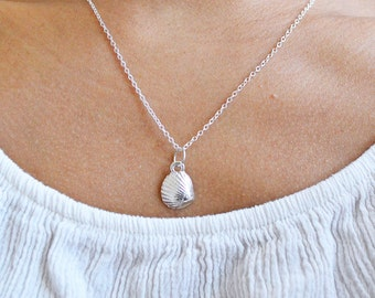 Adorably Cute&Tiny Silver Plated Sea Shell Necklace - Mermaid Necklace, Beach Necklace, Summer Jewelry, Nautical Jewelry, Seashell Necklace