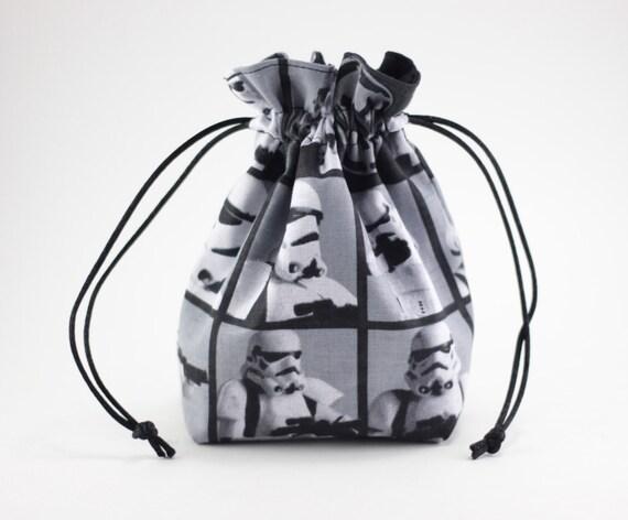 SALE Stormtrooper Drawstring Bag, Dice Bag