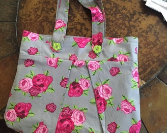 Beautiful Rose Print Purse
