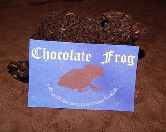 Crocheted Chocolate Frog