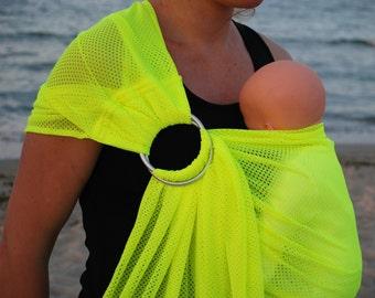 Sale! Water Ring Sling/Mesh Water Sling/Summer Holiday Sling/Baby Carrier/Summer Baby Sling/Ring sling/Yellow sling/