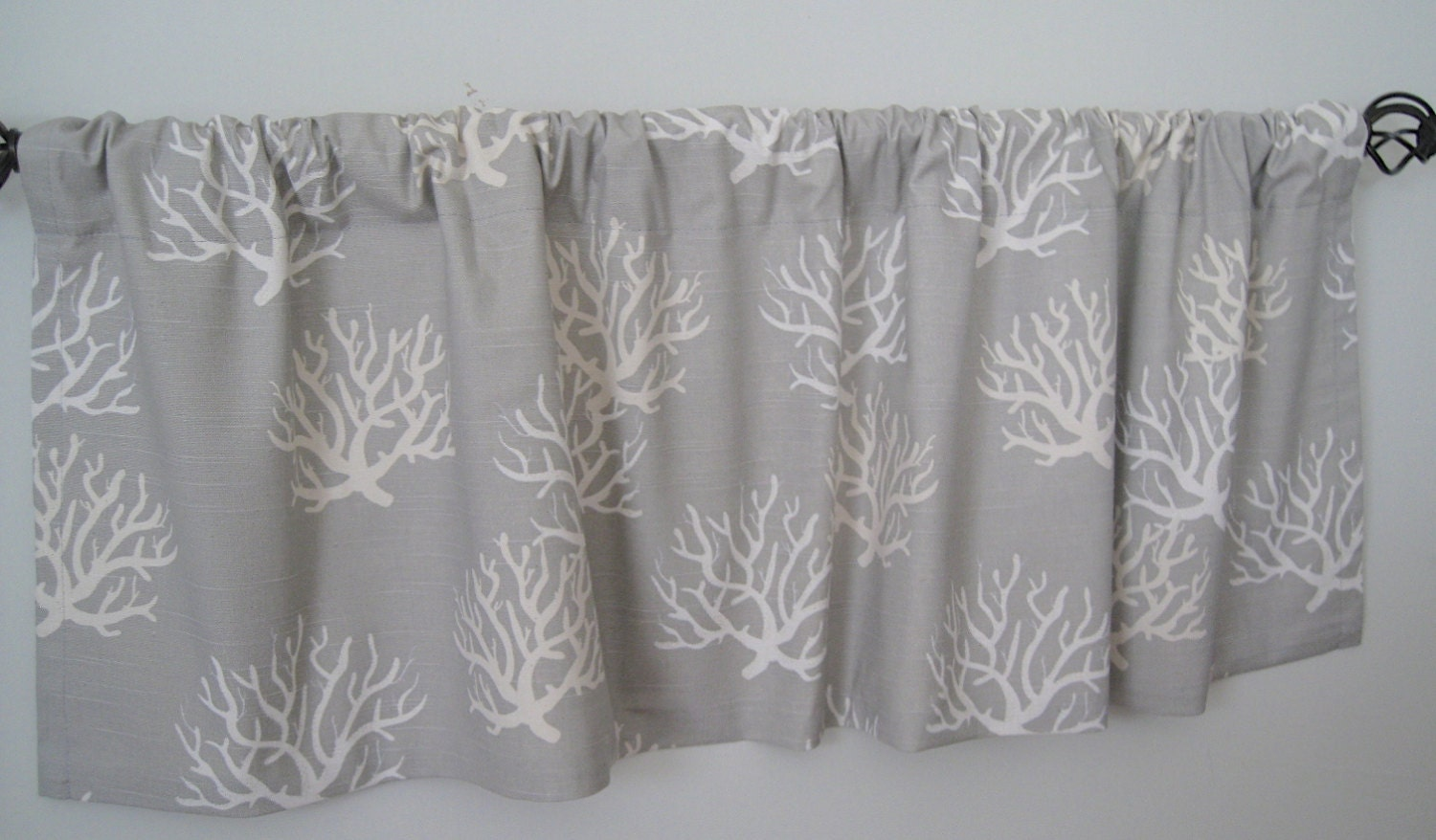 52x16 Valance. Isadella Slub/Coastal And Natural Valance